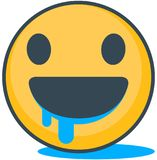 Isolated hungry emoticon. Vector emoticon. Stock Photo