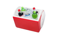 Ice chest and drinks Stock Photos