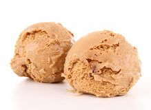 Isolated ice cream Royalty Free Stock Images