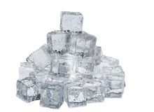 Isolated ice cubes Stock Photography