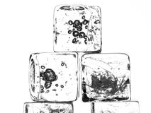 Isolated Ice Cubes Royalty Free Stock Photography