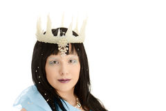 Isolated ice queen with crown Royalty Free Stock Photography