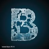 Ice Font of Letter B royalty free illustration