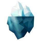 Isolated iceberg. Isolated snow iceberg mountain shape vector illustration, winter sign Stock Images