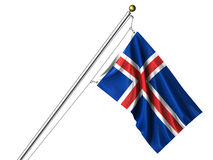 Isolated Icelandic Flag Stock Photography
