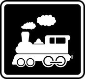 Isolated icon with white train Royalty Free Stock Photography