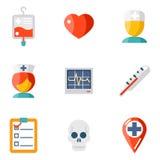 Isolated icons set Medical Stock Image