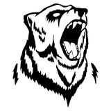 Isolated illustration of a bear`s head. Vector illustration of a bear`s head Stock Images