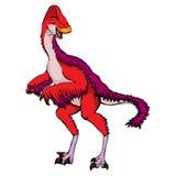Isolated illustration of a cartoon dinosaur. Vector illustration of a cartoon dinosaur Stock Photos