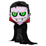 Isolated illustration of a dracula. Vector Isolated illustration of a dracula Stock Images