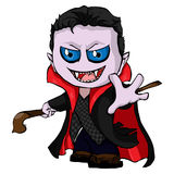 Isolated illustration of a dracula. Vtctor Isolated illustration of a dracula stock illustration