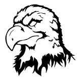 Isolated illustration of an eagle head. Vector illustration of an eagle head Royalty Free Stock Images