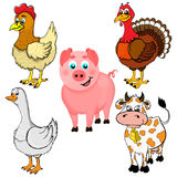 Isolated illustration of farm animals. Vector illustration of farm animals Royalty Free Stock Photos