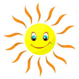 Isolated illustration of a merry sun Royalty Free Stock Photos