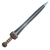Isolated illustration of a Roman Gladius short sword Royalty Free Stock Photography