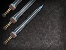 Isolated illustration of a Roman Gladius short sword Stock Images