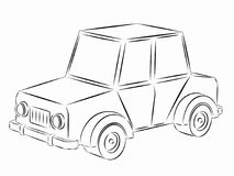 Illustration of toy car, vector draw Royalty Free Stock Photography