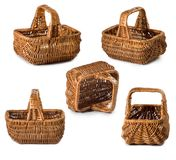Isolated image of baskets close-up. Isolated image of baskets closeup Royalty Free Stock Image