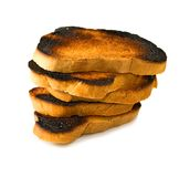 Isolated image of a burnt rusks Royalty Free Stock Photography