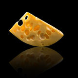 Isolated image of cheese close-up Royalty Free Stock Photography