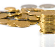 Isolated image of coins Stock Photo