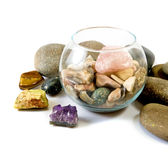 Isolated image of different stones Stock Photography