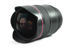 Isolated image of a fisheye lens stock photography