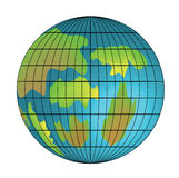 The isolated image of the globe Royalty Free Stock Image