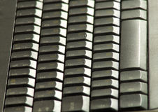 Isolated image of keyboard closeup Stock Images