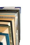 Isolated image of many books closeup Stock Photography