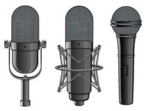 Isolated image of microphones Royalty Free Stock Photography