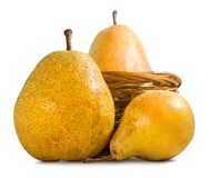 Isolated image of a pear closeup royalty free stock photography