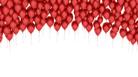 Isolated image of a red balloon over white Stock Photo