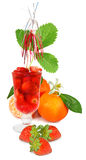 Isolated image of a Strawberry cocktail and fruit closeup Stock Image