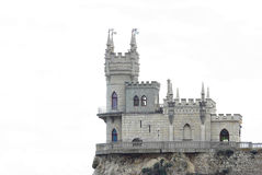 Isolated image of Swallow's Nest castle. In Crimea, Ukraine Stock Photography