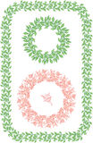 Isolated images of round floral ornament Stock Images