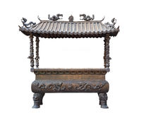 Isolated incense pot in Chinese style Royalty Free Stock Images
