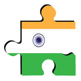 Isolated Indian flag Royalty Free Stock Photo