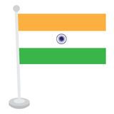 Isolated Indian flag Stock Photo