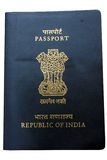 Isolated indian passport Royalty Free Stock Photography