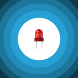 Isolated Indicator Flat Icon. Recipient Vector Element Can Be Used For Recipient, Transistor, Transducer Design Concept. Royalty Free Stock Images