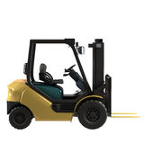 Isolated industrial forklift Stock Image