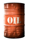Isolated Industrial Orange Oil Barrel Royalty Free Stock Images