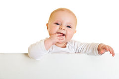 Isolated infant girl Stock Photos