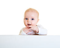 Isolated infant girl Stock Photography