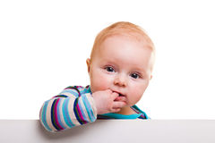 Isolated infant girl Royalty Free Stock Images