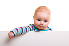 Isolated infant girl Royalty Free Stock Image