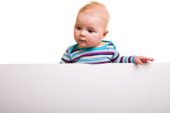 Isolated infant girl Royalty Free Stock Photos