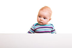 Isolated infant girl Stock Image