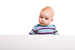 Isolated infant girl Stock Image